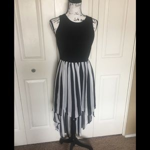 Black and White High/Low dress